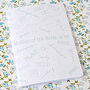 Mother Of The Bride To Be Notebook