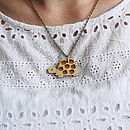 Wooden Turtle Necklace