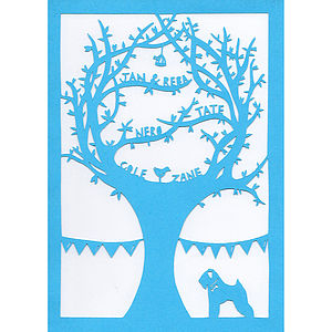 Personalised Family Tree Papercut - art & pictures