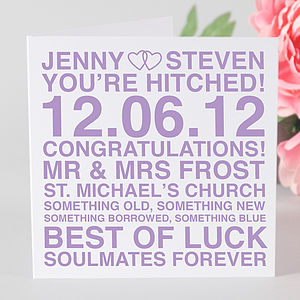 Personalised Wedding Day Card - shop by category