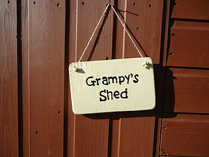 Personalised Shed Sign - art & decorations