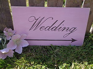 Wedding Sign - room signs