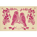 Two Hoots Cotton Tea Towel