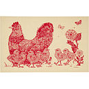 Mother Hen Cotton Tea Towel