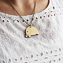 Wooden Elephant Necklace