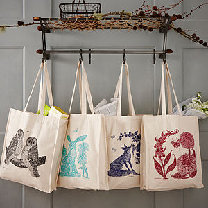 Animal Canvas Shopping Bags