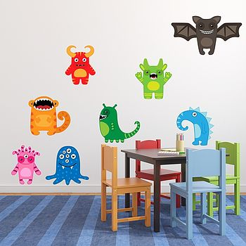 Happy Monsters Wall Stickers