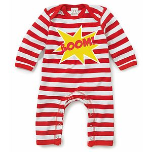 Boom Baby Playsuit - babygrows
