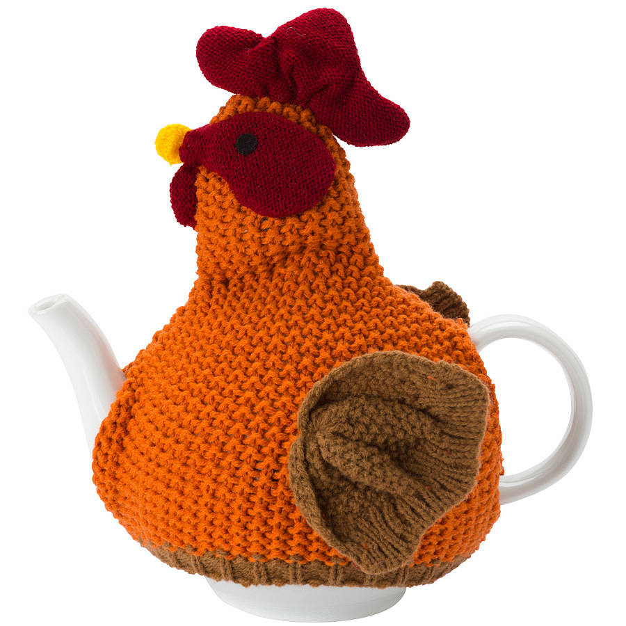chicken knitted tea cosy by ulster weavers notonthehighstreet.com