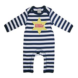 Little Star Baby Playsuit With Optional Giftset - gift sets
