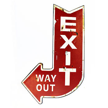 Exit, Way Out Sign