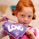 'Make & Sew' Purple Love Heart Sewing Kit