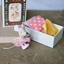 Girl Mouse In A Match Box