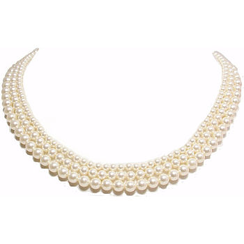 Classic Three Strand Pearl Necklace