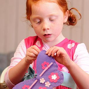 Butterfly Sewing Craft Kit In Lilac Girls Gift - creative kits & experiences