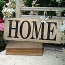 Handmade Weathered 'Home' Sign
