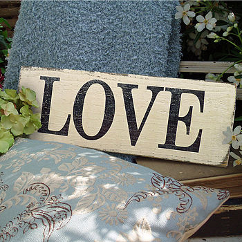 Vintage Style 'Love' Sign