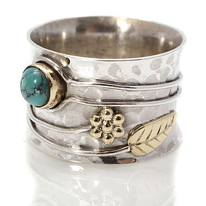 Handmade Turquoise Or Ruby Silver Ring - women's jewellery