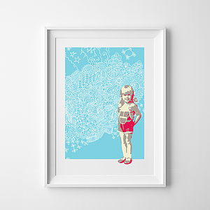 Personalised Portrait From Your Childhood - pictures & prints for children
