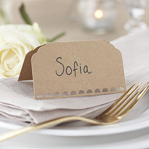 Vintage / Rustic Kraft Wedding Place Cards - wedding stationery
