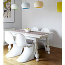 A White Chair, S Style Moulded Retro Chair, Set Of Four