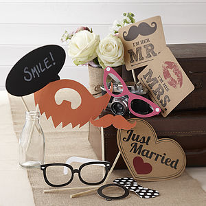 Vintage Style Wedding Photo Booth Props Kit - room decorations