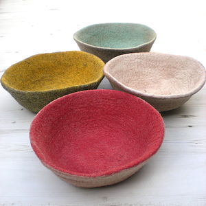 Felted Wool Bowls - decorative accessories