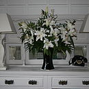 Elegant Ivory Urn Lamp And Shade