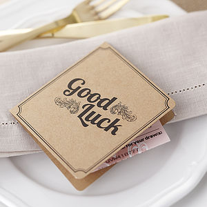Brown Kraft Lottery Ticket Wedding Favour - wedding favours