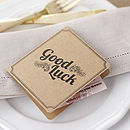 Brown Kraft Lottery Ticket Wedding Favour