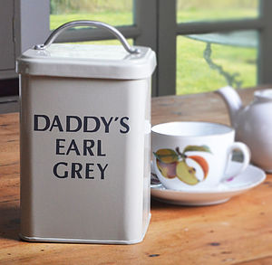 Personalised Enamel Canister - for fathers