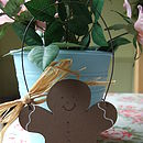 Hanging Wooden Gingerbread Man
