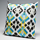 Aztec Cushion Blue