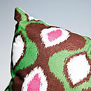 Aztec Cushion Green