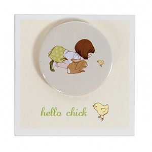 Hello Chick Badge - pins & brooches