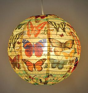 Butterfly Paper Lantern - lamp bases & shades