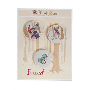 Found Badge Set - women's jewellery