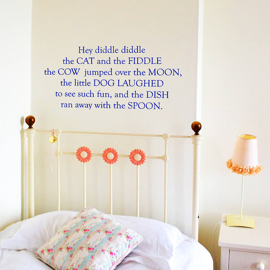 Attirant Nursery Rhyme Wall Stickers