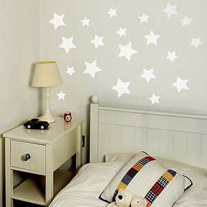 Star Set Wall Sticker - wall stickers by room