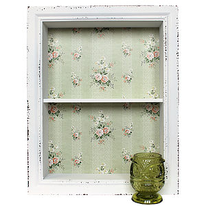 French Vintage Style Box Shelf - decorative accessories