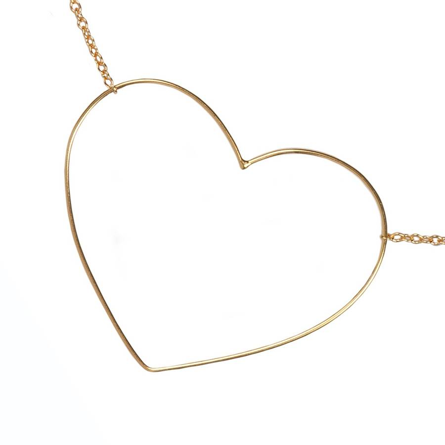 9ct solid gold fil dor heart necklace by sibylle de baynast open heart detail aloadofball Images