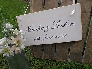 Personalised Script Wedding Sign - outdoor decorations