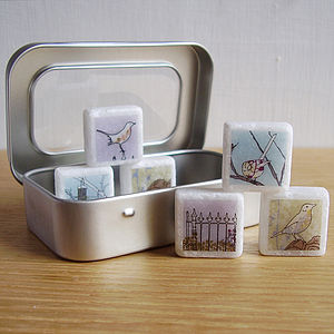British Bird Marble Magnets - decorative accessories