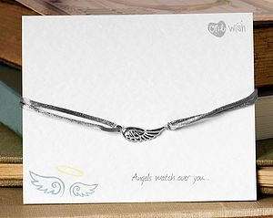 'Angels watch over you' Silk Bracelet - women's jewellery