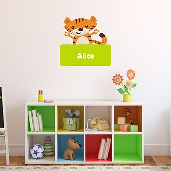 Personalised Tiger Wall Sticker
