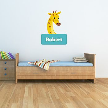 Giraffe Name Wall Sticker