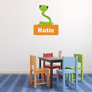 Personalised Snake Wall Sticker
