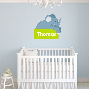 Personalised Elephant Wall Sticker