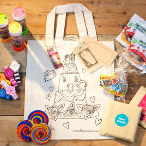 Colour In Wedding Favour Bag With Gifts - toys & games