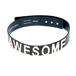 'Awesome' Leather Belt